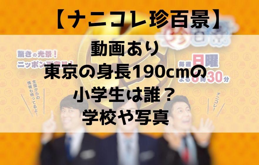 東京の身長190cmの小学生は誰?学校や写真(画像)は?動画あり【ナニコレ珍百景】