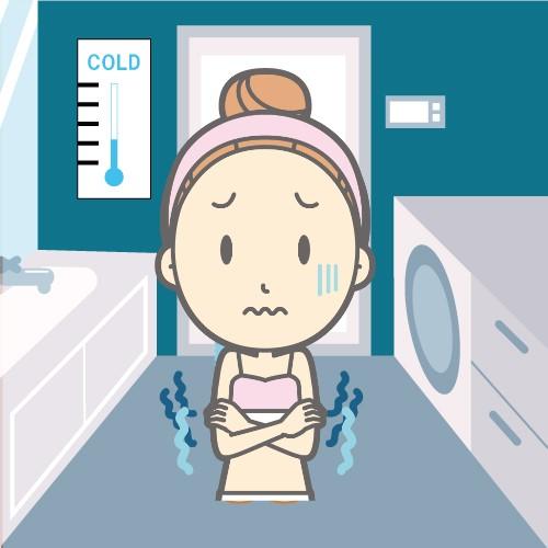 一人暮らしでシャワーは寒い
